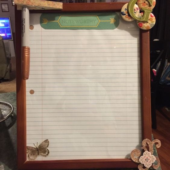 Personal Desktop Dry Erase Board. Very simple, very cute and inexpensive.