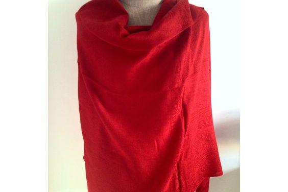 http://www.pashminacachemire.com/pashmina/1304-pashmina-rouge-cerise.html Écharpe bleu vert canard - pashmina écharpe laine cachemire rouge homme et femme - red cashmere shawl scarf wool man and woman