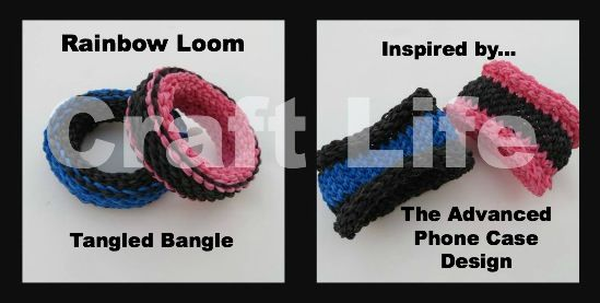 Advanced Tangled Bangle Bracelet Tutorial on the Rainbow Loom ~ Inspired by the Advanced Phone Case Design