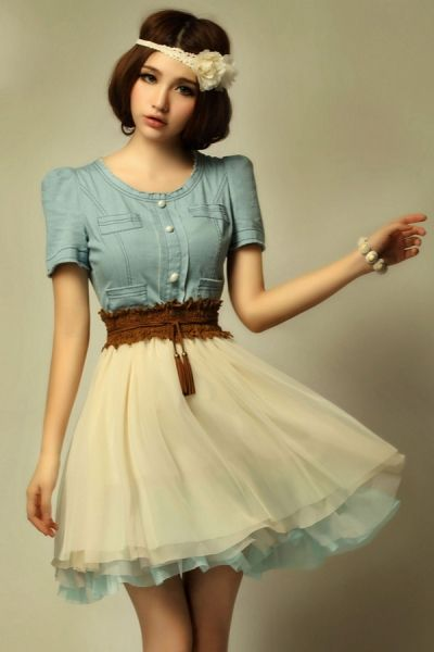 Dream feeling Vintage Dress - OASAP.com  Skirts Trendy outfits ...