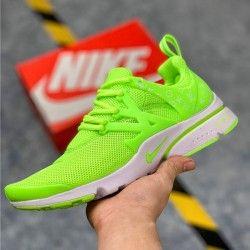 Nike Air Presto Flyknit Ultra running shoes men's lime green ...
