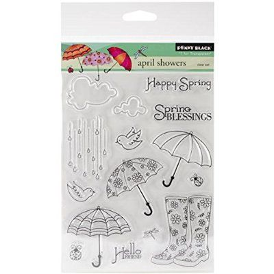 "Penny Black Clear Stamps 5""X6.5"" Sheet-April Showers"