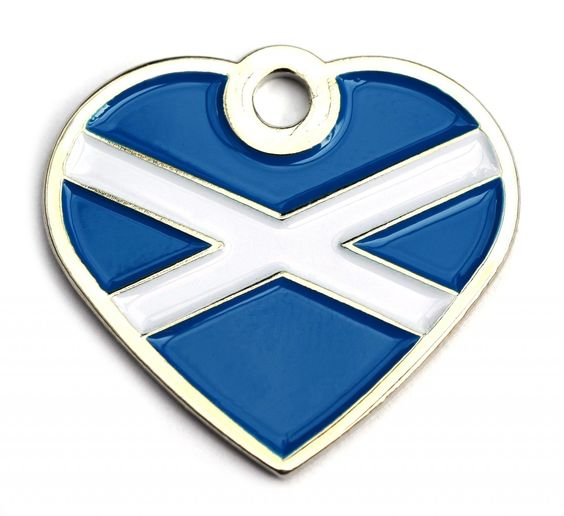 Small Scotland Flag Dog Id Tag | Happy Dog Days