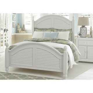 Shop for Summer House Oyster White Cottage Low Poster Bed. Get free shipping at Overstock - Your Online Furniture Outlet Store! Get 5% in rewards with Club O! - 12027320