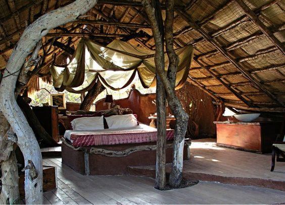 Bohemian tree house bedroom... dare to dream...