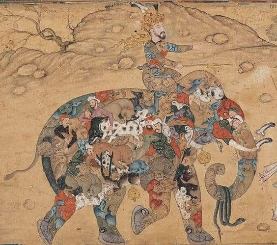 "Stephen Ellcock on Instagram: ""Composite Elephant. Persian Miniature ,Iran , ca. 17th century CE"""