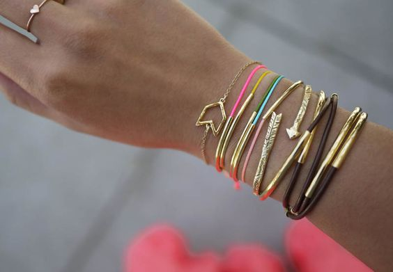DIY Gold Tube Bracelets