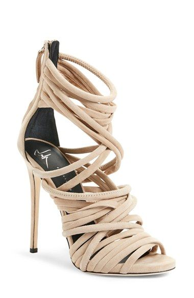 'A-Line' Strappy Cage Sandal (Women)