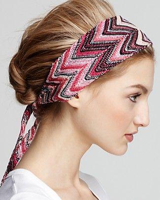 Missoni head scarf