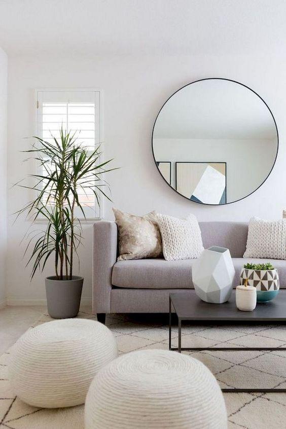 Bright Living Room Scandinavian Design Plants Grey Couch Modern Furniture Minimalist Living Room Design Minimalist Living Room Decor Minimalist Living Room