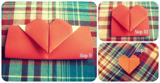 DIY heart bookmark