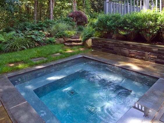 Foundation For Pools : Small pools and hot tubs on pinterest