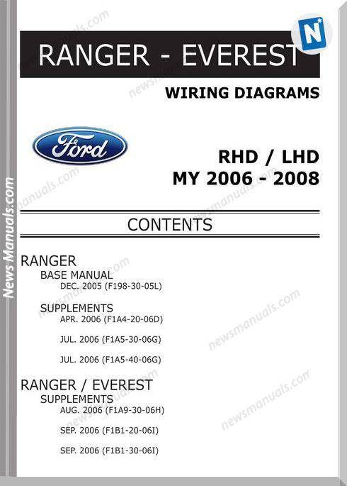 Ford Ranger Everest 2006 2008 Wiring Diagram System Ford Ranger Ranger Ford