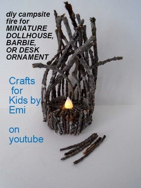 Campfire for dollhouse