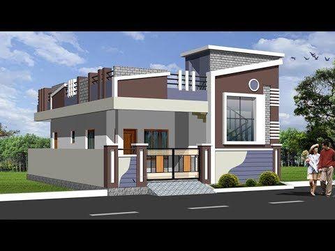 Pin by Srinivask Yadav on Elevation | House front design ... Biulding Compound House Plan on