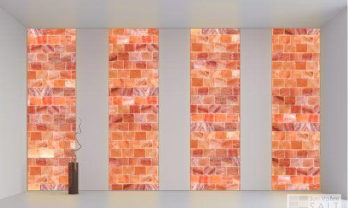 Sun Valley Salt Wall Systems Himalayan Salt Columns Salt Room Wall Panel Design Himalayan Salt