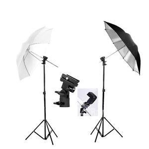 "Photography Studio 33"" Umbrella Flash Speedlite KIT Light Stand Bracket Mount B | eBay"