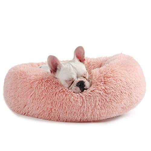 Veehoo Warming Round Dog Bed For Small Dogs Cats Luxurious Faux Fur Donut Cuddler Bolster Pet Bed Sofa Extr Dog Bed Soft Dog Beds Dog Beds For Small Dogs