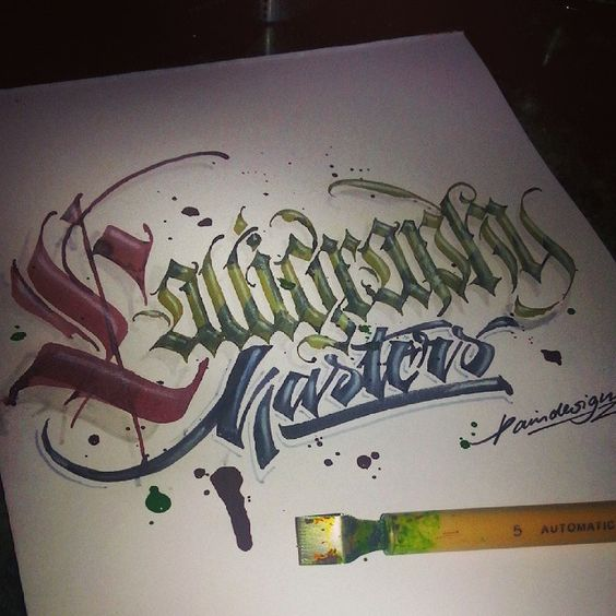Calligraphy masters by paindesignart styles