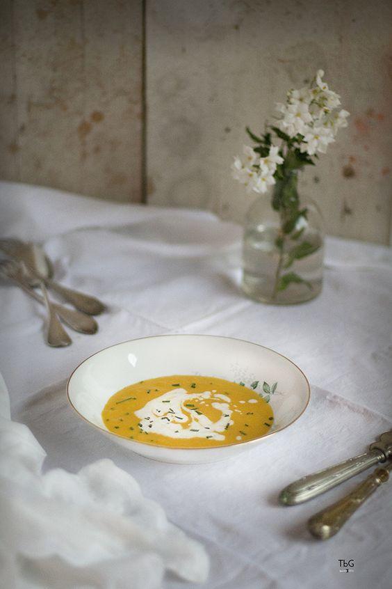 Crema fría de zanahoria, coco y jengibre. To be Gourmet | Recetas de cocina, gastronomía y restaurantes.