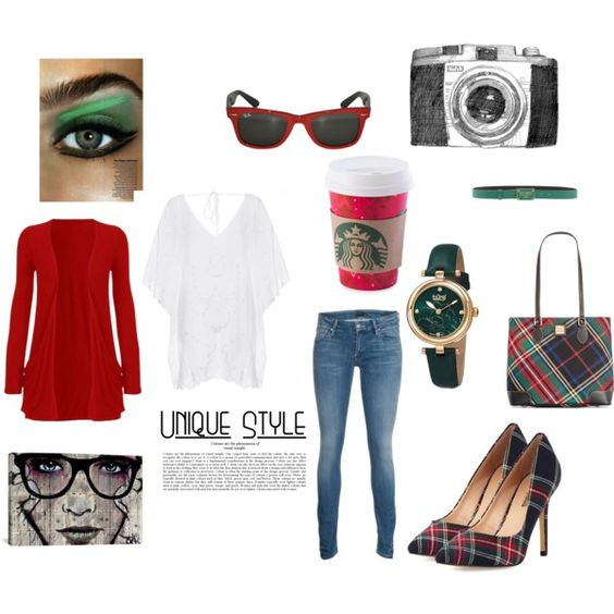 Tartan red and green by kaitlyn-obrien on Polyvore featuring ViX, Mother, Neiman Marcus, Dooney & Bourke, bürgi, Dolce&Gabbana and iCanvas
