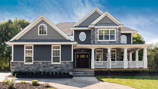 Blue Vinyl Siding And Is Really Trendy Right Now Love How This