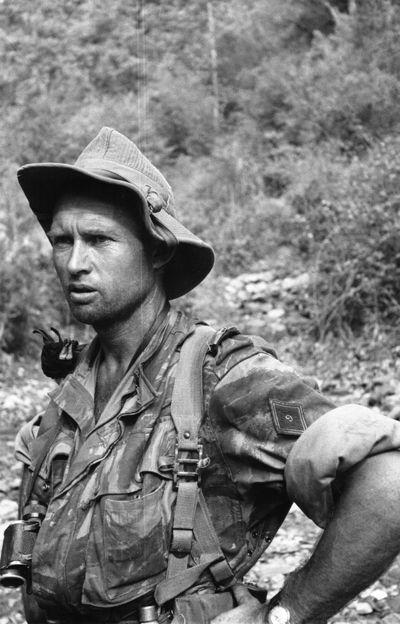 Le capitaine Yves Le Fur, 9e RCP, Algérie, vers 1957