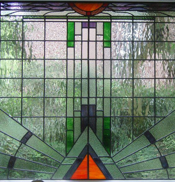 Art deco window like solid water