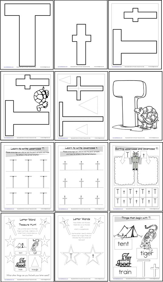free download! Letter T - Letter of the Week • Itsy Bitsy Learners