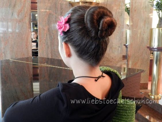 Double chignon not for dancers only