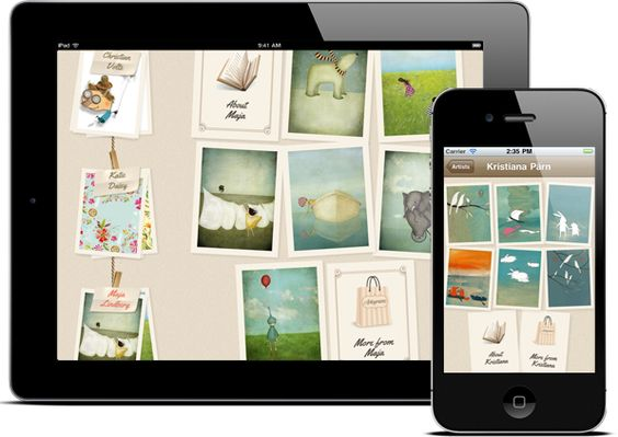 Artogram. Send beautiful e-cards via email and MMS or share them on Facebook and Twitter.