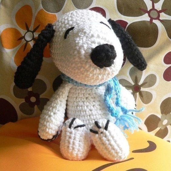 Amigurumi Tutorial Snoopy : Amigurumi pilot snoopy puppy dog crochet pattern christmas