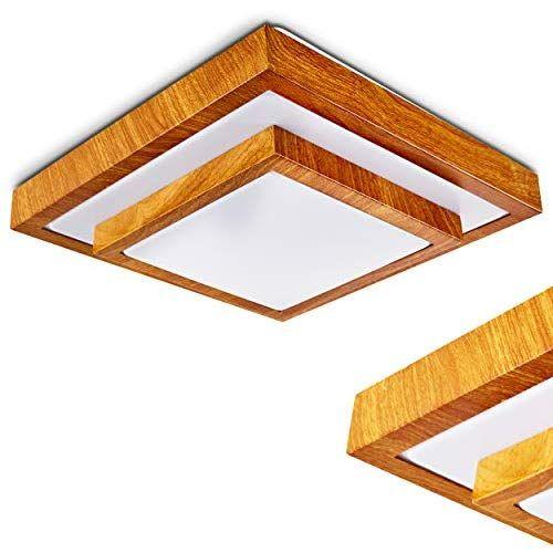Moderner LED Deckenstrahler in Holz Optik – Badezimmer Lampe