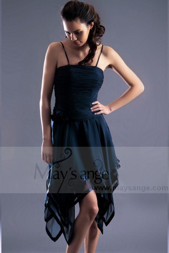 Robe Bleu marine chic -robe de cocktail-maysange