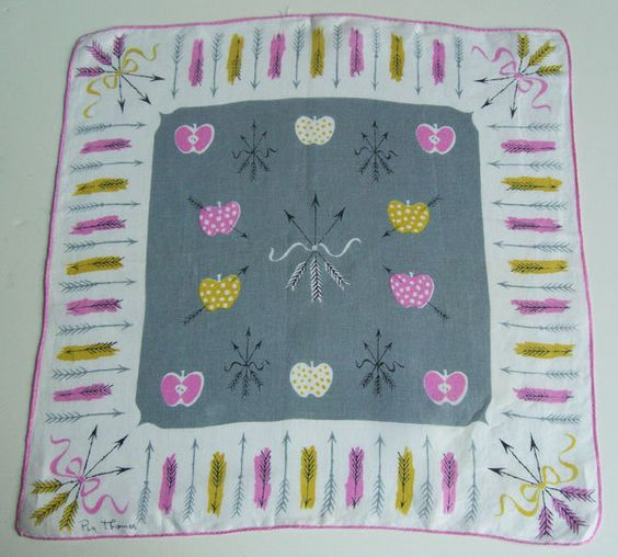 Vintage Peg Thomas Tammis Keefe Hankie from murdups on Etsy