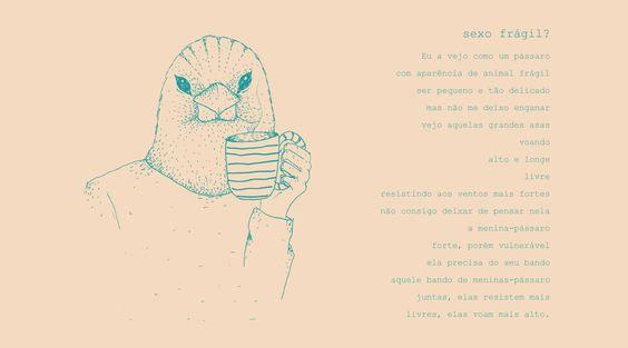 Ilustrações e poesias feministas para crianças e adolescentes.