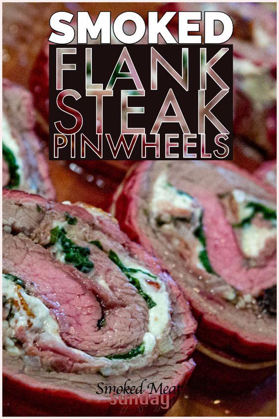 How to Make Smoked Flank Steak Pinwheels