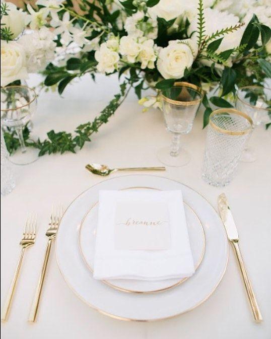 Gold Wedding Gold Rim Dinnerware Gold Flatware Haiku Mill Wedding Set Maui Pc Annakimphotogra Gold Flatware Wedding Wedding Glassware Haiku Mill Wedding
