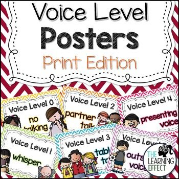 Voice Level Posters - Print Edition | The Learning Effect