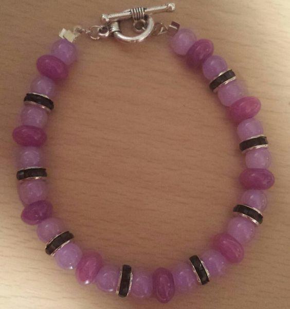 """Purple Haze Bracelet 7 1/2"""" Toggle Clasp $10"""