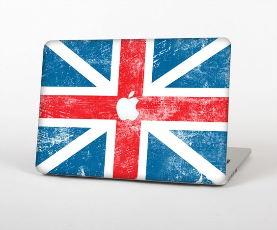 """The Scratched Surface London England Flag Skin Set for the Apple MacBook Pro 15"""" with Retina Display from Design Skinz"""