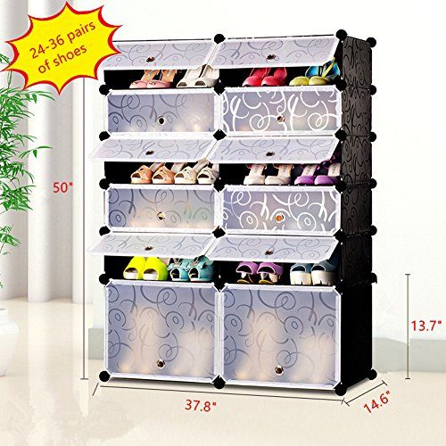 Hever Diy Shoe Rack Shoe Cabinet Plastic Shoe Storage Organizer With Doors Black 8 Cubes Amazon Best B Diy Shoe Rack Shoe Storage Organiser Shoe Storage