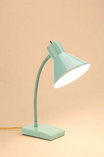 Scout Table Lamp - mint with yellow cord