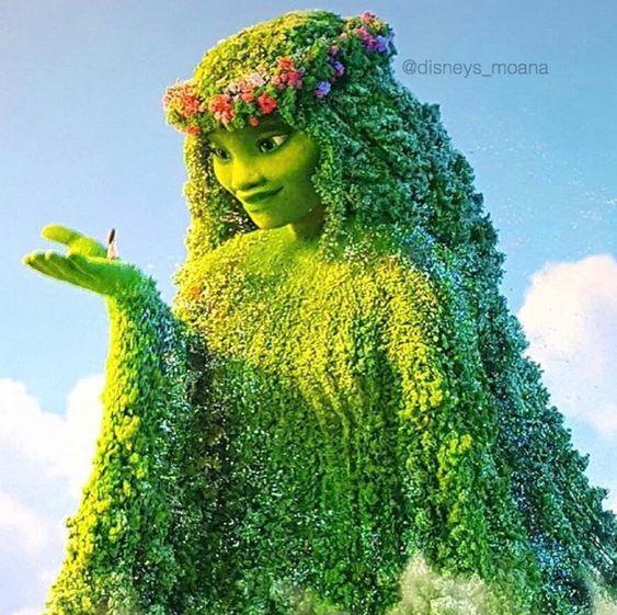 Te Fiti, uma deusa, a Ilha Mãe: Moana: