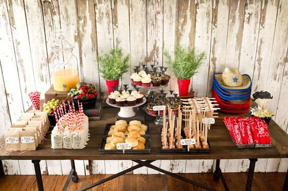 Great western themed party