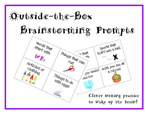 Creative writing brainstorming