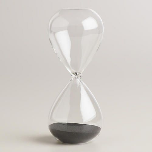 Large Glass Sand Timer >> #WorldMarket Home Office, Organization, Home Decor, Tips:
