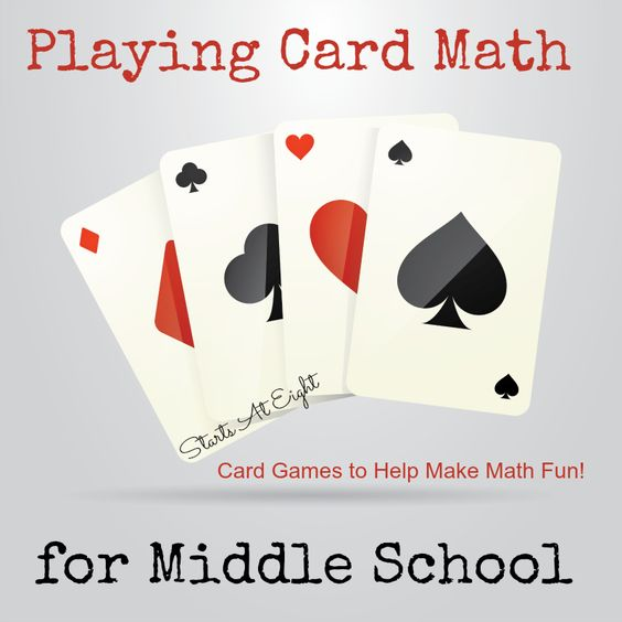 Playing Card Math for Middle School offers a break from the daily drone of textbooks by giving the kids a way to have fun while still learning math concepts