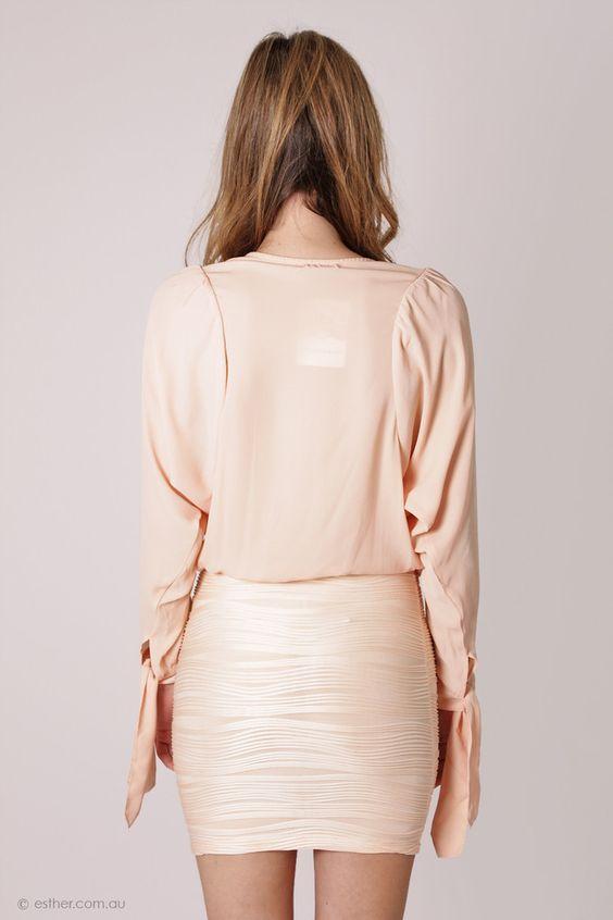farrah cocktail dress - light peach