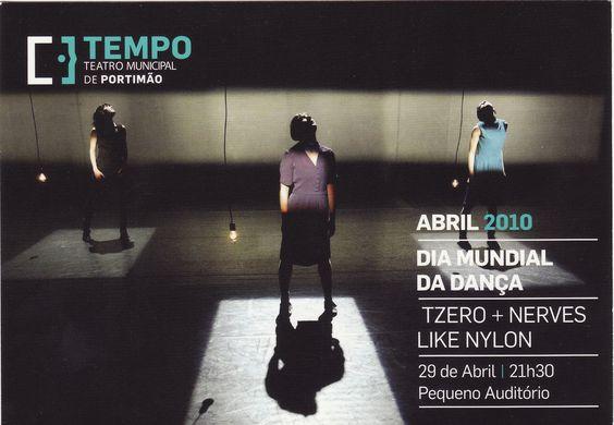 """Postal publicitário do Teatro Tempo alusivo ao espectáculo """"TZERO + NERVES LIKE NYLON""""; Edição PostalFree"""